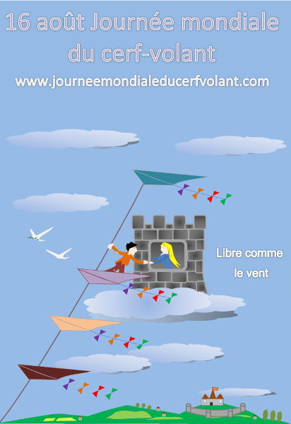 Affiche de la journée mondiale de cerf-volant 2018