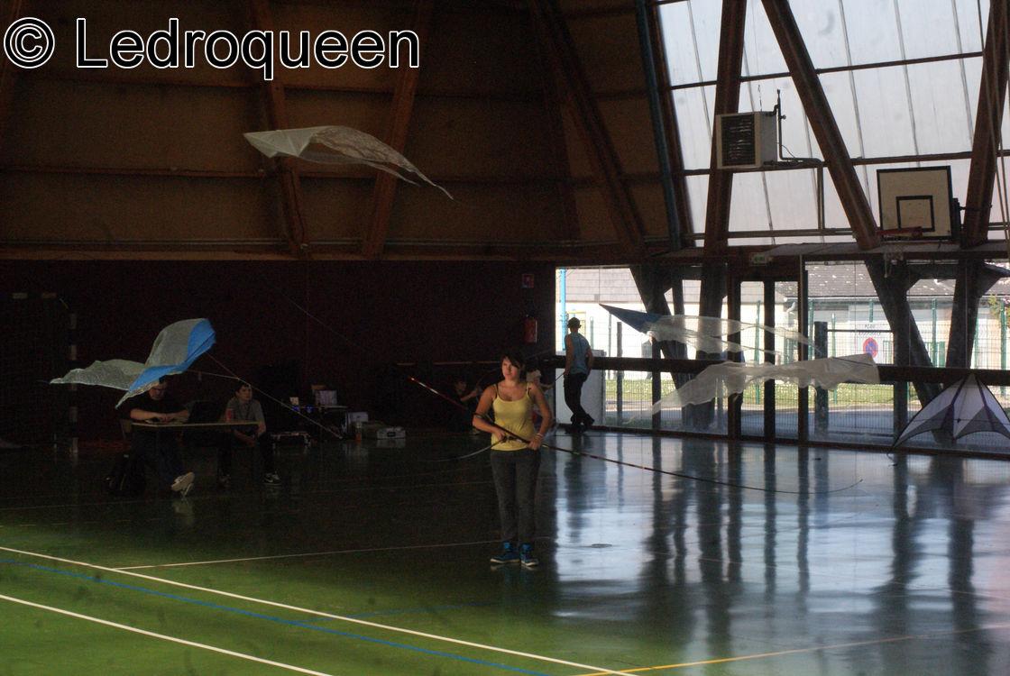Une Cerf-Voliste lors de leur festival indoor à Marle